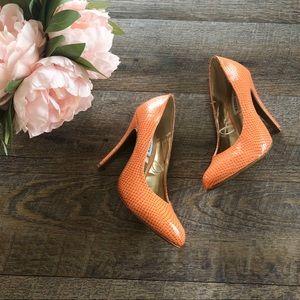 {Steve Madden} Orange Python Heels